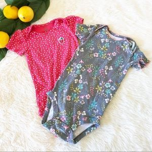 Carter's Set of 2 One Pieces Girl Size 18 mos